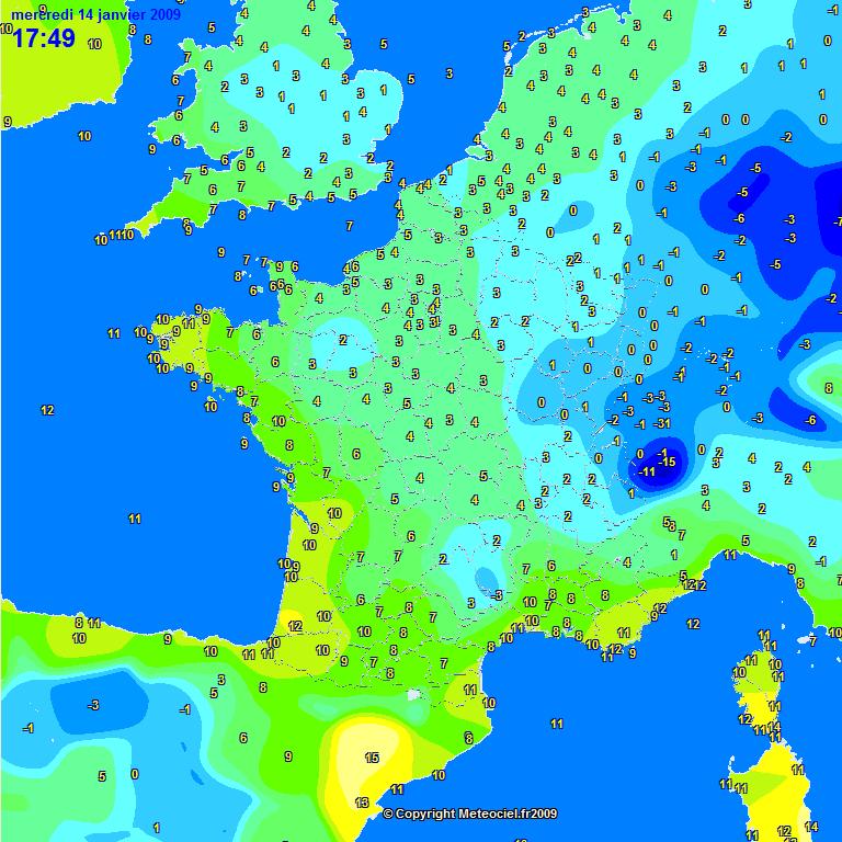 Meteo france hiver 2008 2009 previsions en france de l - Meteo belfort demain ...