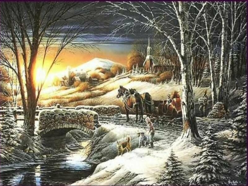 Dessins et paysages de neige - Paysage de noel gratuit ...
